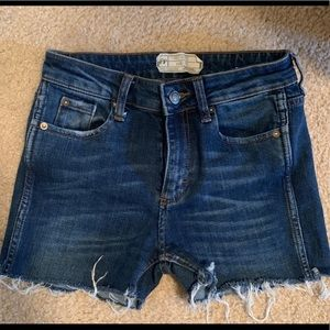 Free People high rise stretch cut off jean shorts